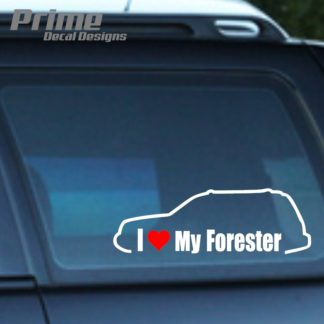 Subaru I Love My Forester Decal