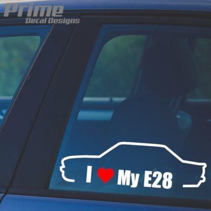 Euro Bmw I Love My E28 Heart Car Wall Window Vinyl Sticker Decal
