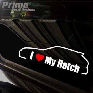 Honda I Love My Civic Hatch Decal