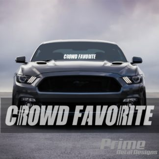 crowd favorite car windshield banner mustang