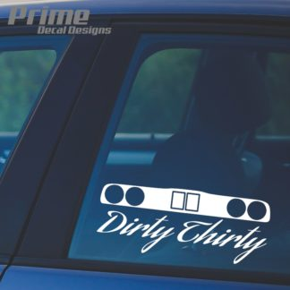 BMW Dirty Thirty E30 Decal
