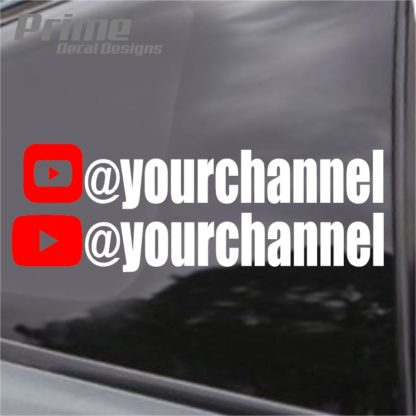 Custom YouTube Channel Decal (Set of 2)