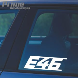 BMW E46 Decal