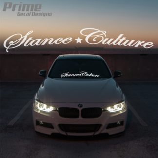 Stance Culture Car Windshield Banner Decal