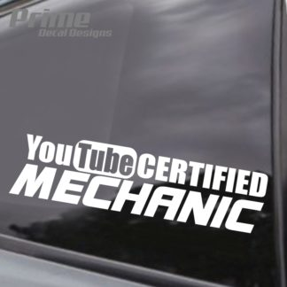 YouTube Certified Mechanic Decal
