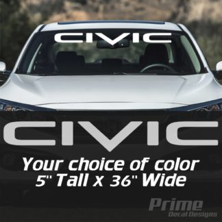Honda Civic Logo Car Windshield Banner Decal