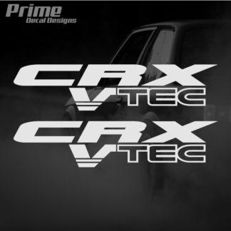 Set of 2 Honda CRX Vtec Lettering Kit