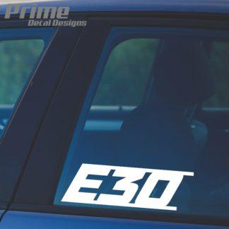 BMW E30 Decal