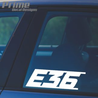 e36 bmw 3 series decal