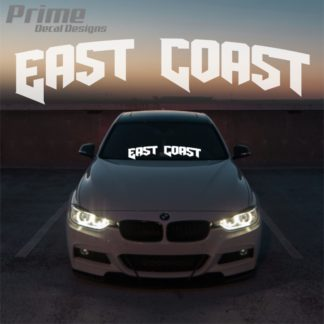 East Coast Car Windshield Banner Decal