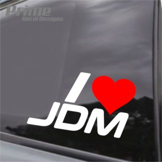 i heart love jdm decal
