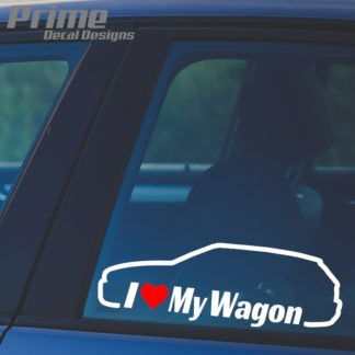 BMW I Love My E46 Wagon Decal