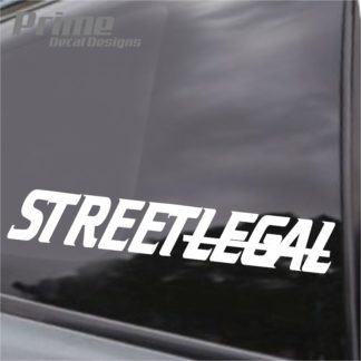 not street legal decal