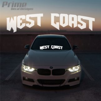West Coast Car Windshield Banner Decal