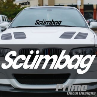 Scumbag Windshield Banner Decal