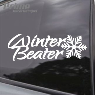 Winter Beater Snowflake Decal