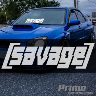 SAVAGE Windshield Banner Decal