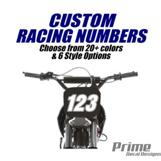 Customized Racing Numbers