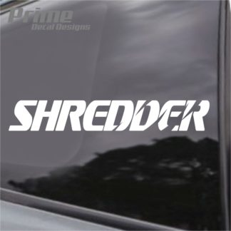 Shredder Decal