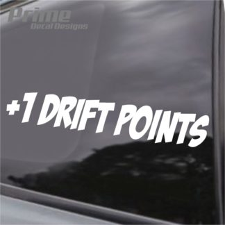 Plus One Drift Points Decal