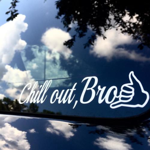 Chill Out Bro Shaka Vinyl Decals